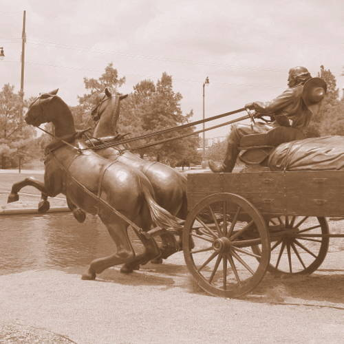 019 horse team and wagon statue brinktown okc
