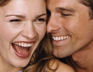 laughing couple closeup