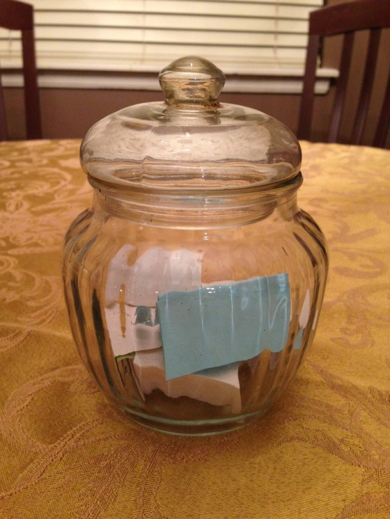 weekly blessing jar