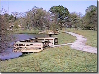 hunter park fishing docks over pond