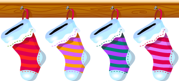 christmas stockings animated empty