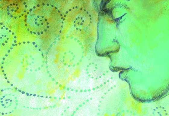 Profile of Face with Swirls