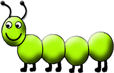 catepillar animated smiling