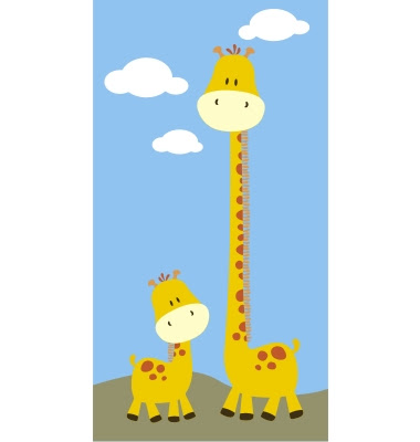 mom and child giraffee animated