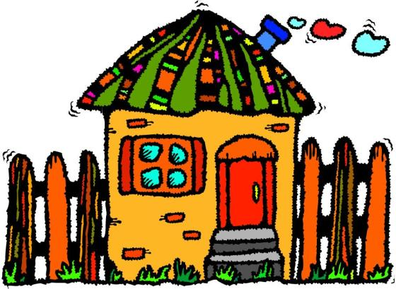 House with hearts coming out of chiminey illustration clip art source