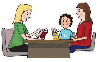 teacher parent child meeting clip art illustrated august 19 2015