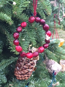 christmas tree bird decoration philbrook 2015 cranberry ring