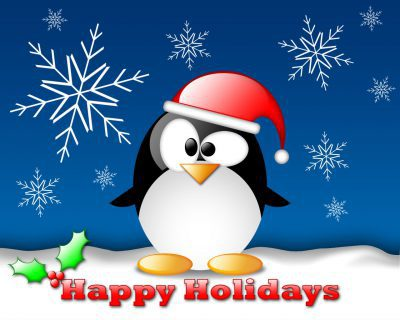 happy-holidays-with-snow-and-penquin