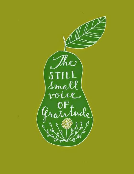 gratitude-quote-on-small-sitll-voice-of-gratitude-in-pear-shape